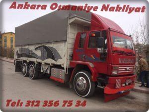 ankara osmaniye arası kapalı kasa kamyon